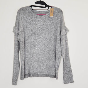 NWT AE Soft and Sexy Plush ruffle detail sweater